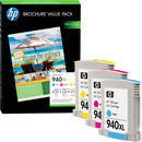 HP Druckpatronen Value Pack Nr. 940XL color (CG898AE) inkl. 100 Blatt Papier
