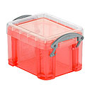 Kunststoffboxen Really useful Boxes, transparent rot
