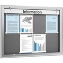 SOFTLINE infobord, 90 mm diep, 18 x A4 horizontaal